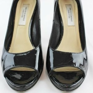 Saks 5th Ave Black Patent Heels Size 8.5